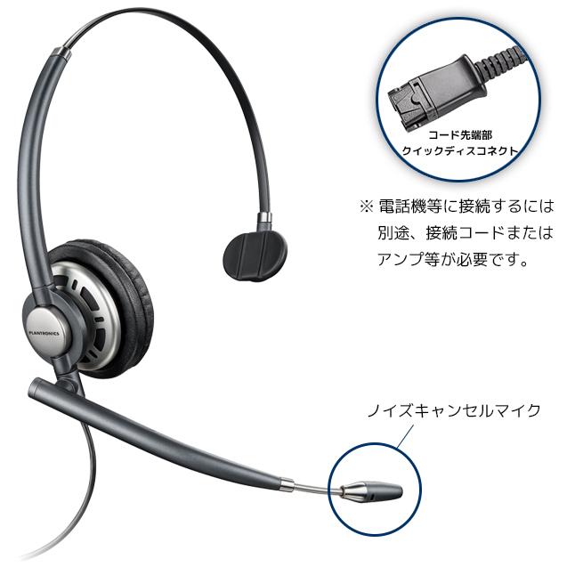 【送料無料】Plantronics(プラントロニクス) HW710 アンコアプロ・ワイドバンド