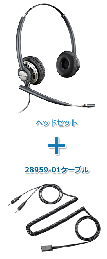 【送料無料】Plantronics(プラントロニクス) HW720-28959-01 ヘッドセット(スープラプラスワイドバンド HW720・PC接続ケーブル 28959-01)