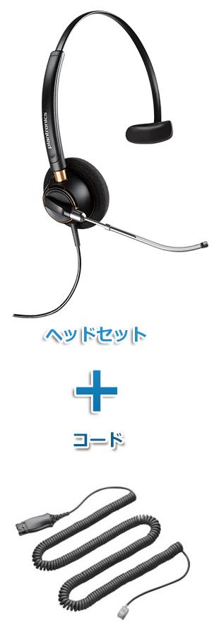 Plantronics(プラントロニクス) HW510V-72442-41 ヘッドセット(特定電話機用 HW510V・HISケーブル 72442-41)