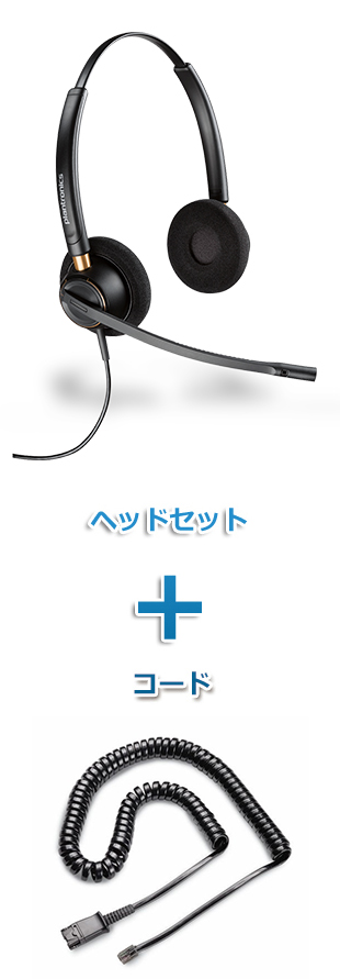 Plantronics(プラントロニクス)ヘッドセット(特定電話機用 HW520・26716-01 QD/モジュラー 標準カールコードセット)