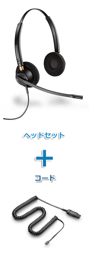 Plantronics(プラントロニクス) HW520-49323-46 ヘッドセット(特定電話機用 HW520・HICケーブル 49323-46)