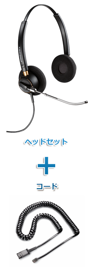 Plantronics(プラントロニクス)ヘッドセット(特定電話機用 HW520V・26716-01 QD/モジュラー 標準カールコードセット)