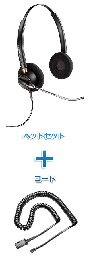 Plantronics(プラントロニクス)ヘッドセット(特定電話機用 HW520V・38099-01 ポラリス反転ケーブルセット)
