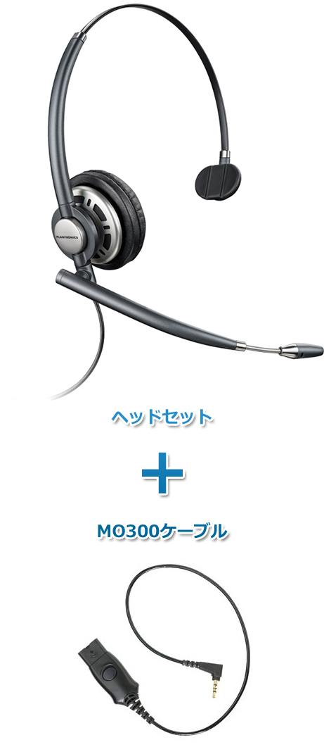 【送料無料】Plantronics(プラントロニクス)ヘッドセット(スマートフォン接続 HW710・MO300ケーブルセット)