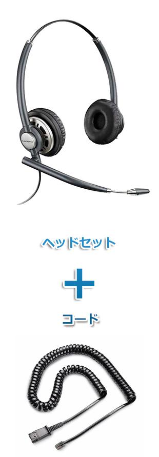 Plantronics(プラントロニクス)ヘッドセット(特定電話機用 HW720・26716-01 QD/モジュラー 標準カールコードセット)