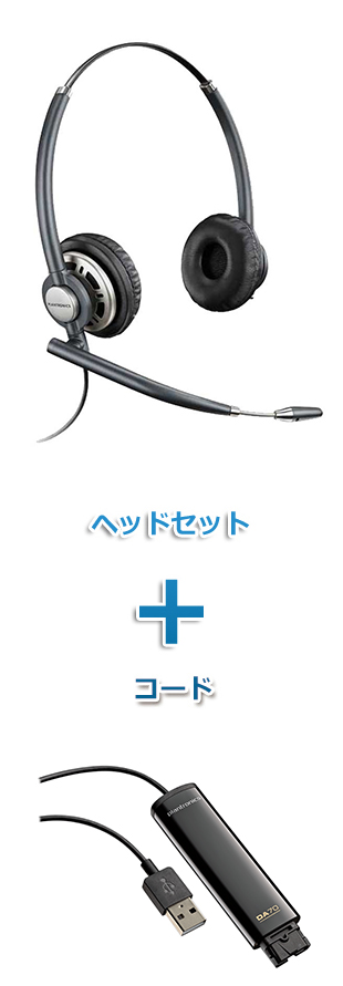 Plantronics(プラントロニクス)ヘッドセット(USB接続 HW720・DA70 USBヘッドセットアダプター)