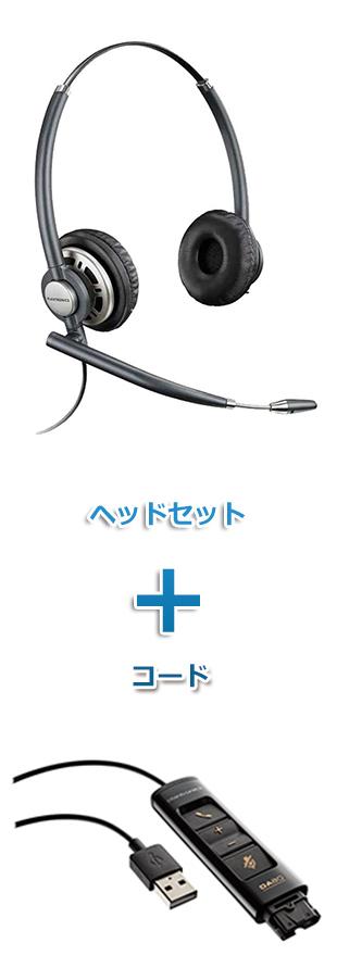 【送料無料】Plantronics(プラントロニクス)ヘッドセット(USB接続 HW720・DA80 USBヘッドセットアダプター)