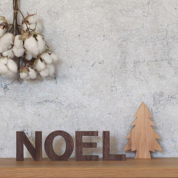 もみの木+アルファベットオブジェ『NOEL』
