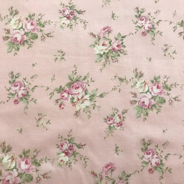 【花柄】【パッチワーク用布】【YUWA】【メール便可】シャーティング fairyrose ピンク