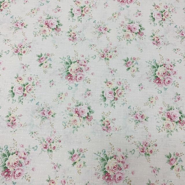 【花柄】【優しい色合い】【YUWA】【レターパックライト可】ハートフィールドカラーのカットクロス(046220)50x55cm