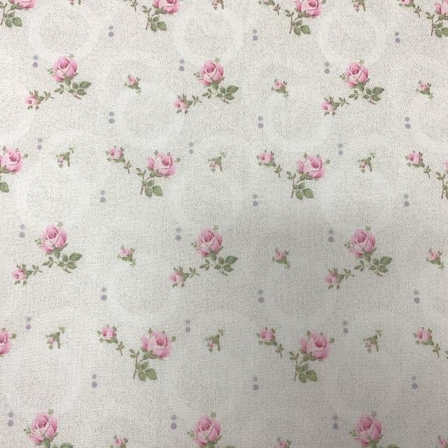 【花柄】【優しい色合い】【YUWA】【レターパックライト可】ハートフィールドカラーのカットクロス(826555)50x55cm