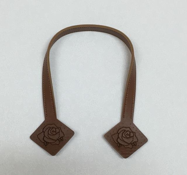 【バッグ持ち手】【薔薇柄】【レターパックライト可】 イナズマ薔薇模様持ち手 40cm