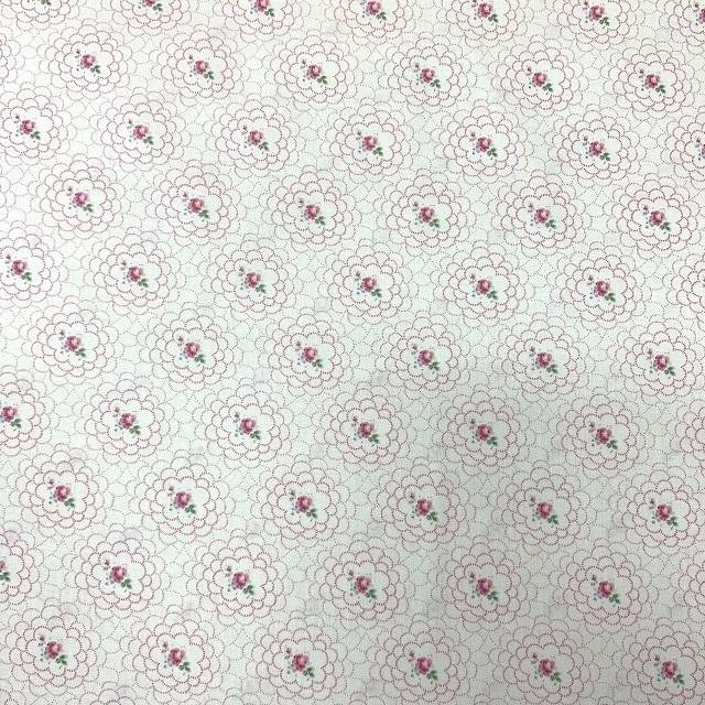 【花柄】【優しい色合い】【YUWA】【レターパックライト可】ハートフィールドカラーのカットクロス(825501)50x55cm