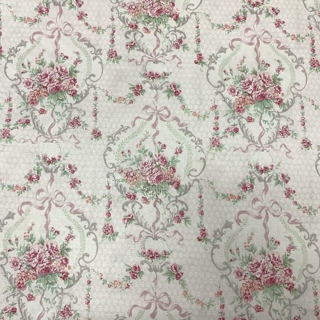 【花柄】【優しい色合い】【YUWA】【レターパックライト可】ハートフィールドカラーのカットクロス(825495)50x55cm