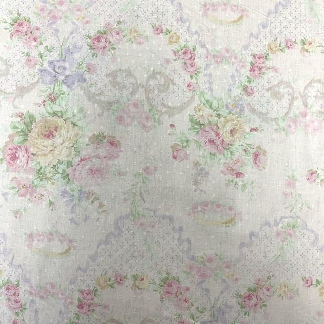 【花柄】【優しい色合い】【YUWA】【レターパックライト可】ハートフィールドカラーのカットクロス(066420)60x55cm