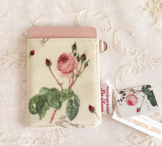【ルドゥーテ】【薔薇柄】【パス・ケース】【メール便可】 ルドゥーテ パス・ケース