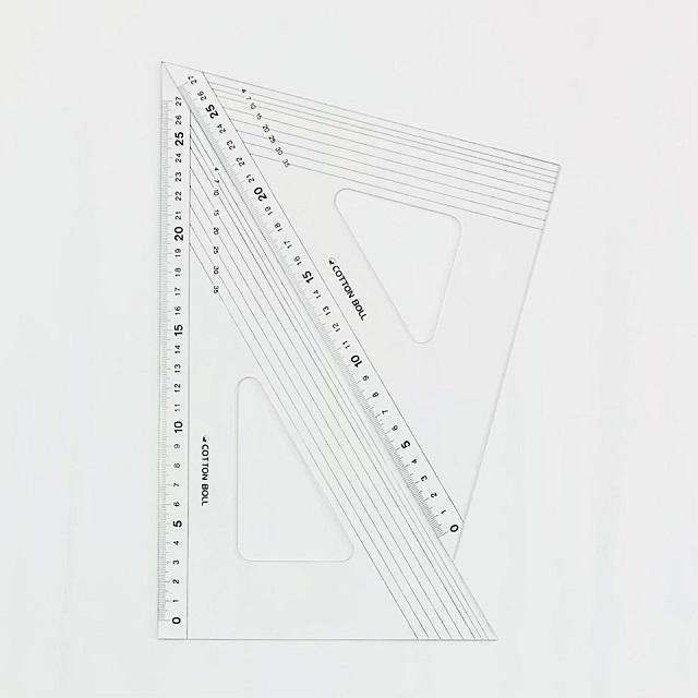 【パッチワーク】【キルト】【ハンドメイド】【定規】【三角定規】【レターパックライト可】 コットンボウル 三角定規