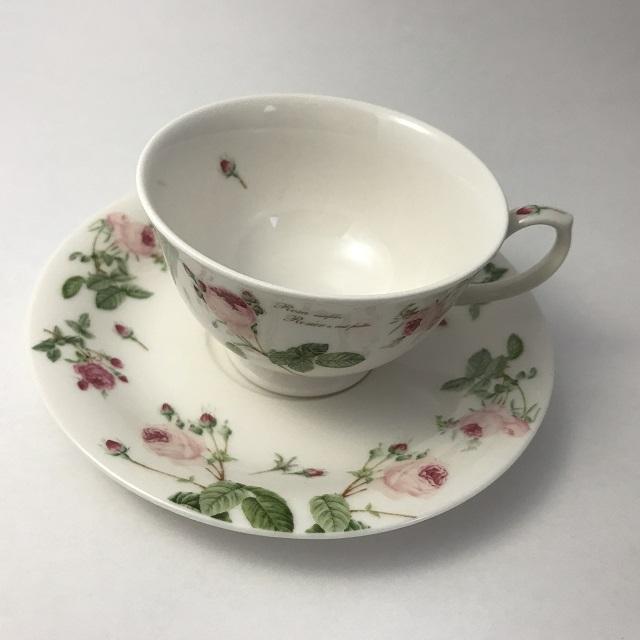 【ルドゥーテ】【薔薇柄】【陶磁器】 ルドゥーテ バラ柄 カップ&ソーサー