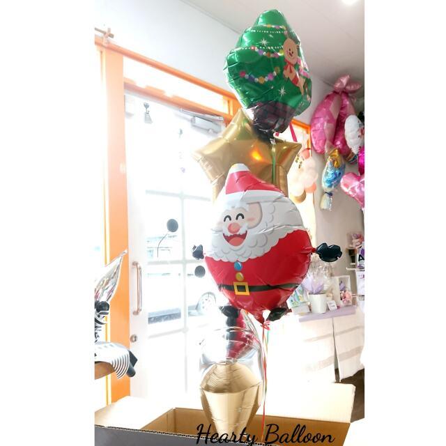 クリスマスBOX サンタスターバルーン4個セット mc0019