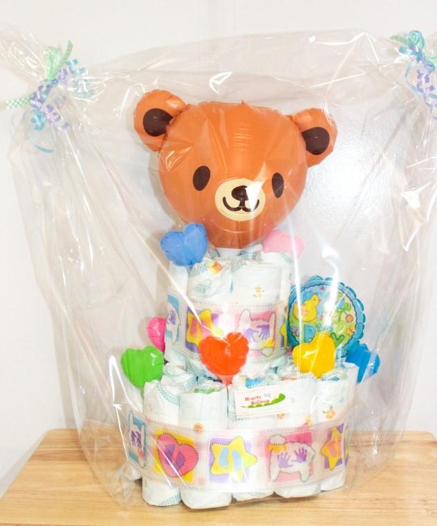 出産祝い おむつけーき「オムツケーキ2段」 nb008