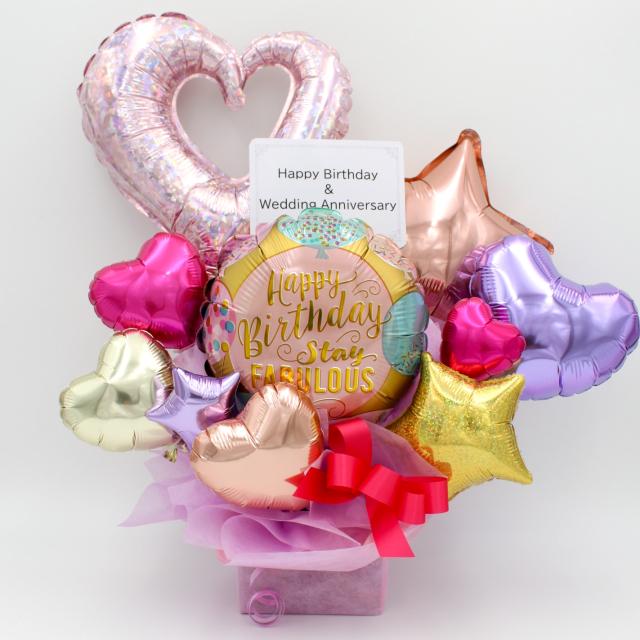 ファビュラスパステル誕生日プレゼント  大人可愛いアレンジ、誕生日、開店祝い、周年記念などに人気です 」 ot0032