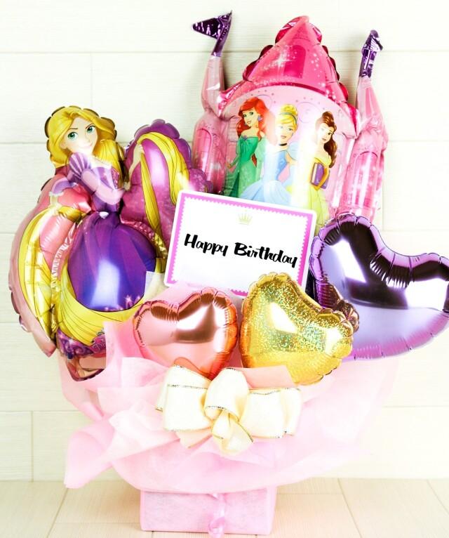 ラプンツェルバルーン電報 結婚式、誕生日、バレエ、ピアノ発表会に人気です pb0054