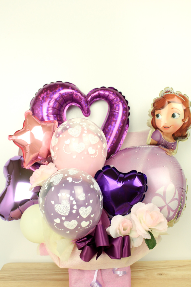 ソフィアバルーン電報 結婚式、誕生日、バレエ、ピアノ発表会に人気です pb0069