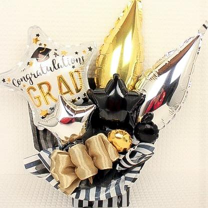 春のお祝い(卒業、卒園、入学、入園) 「GRADゴールドシルバー、バルーンアレンジ」 sp0023