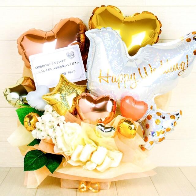 結婚式バルーン電報 「絶対オシャレシリーズ、鳩は幸福の象徴!バルーンアレンジ、結婚式のお祝いに大人気」 wd0072