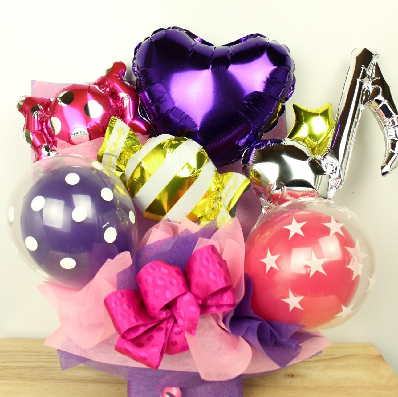 ダンス発表会向けバルーン電報 結婚式、誕生日、バレエ、ピアノ発表会に人気です pb0071