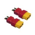 接続コネクタ: XT-60(オス)< >T型コネクタ(オス) 2個セット 【AEST1226】