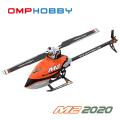 超安定6軸ジャイロ&パニックリカバリ機能搭載! OMPHOBBY デュアルブラシレスダイレクト3D ヘリコプター M2 2020 フルメタル仕様(オレンジ) 【バッテリー1個・各種スペアパーツ・日本語説明書付属】
