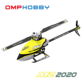 超安定6軸ジャイロ&パニックリカバリ機能搭載! OMPHOBBY デュアルブラシレスダイレクト3D ヘリコプター M2 2020 フルメタル仕様(イエロー) 【バッテリー1個・各種スペアパーツ・日本語説明書付属】