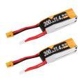 Beta 75Xに最適! Crazepony 3セル 300mAh 80C HVリポバッテリー 2個セット(XT30コネクター仕様)