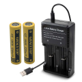 FatSharkゴーグルやJUMPER送信機に利用可能! 18650リチウムイオン電池(3200mAh) 充電器セット