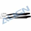 T-REX 470L用 380 カーボンファイバーブレード 黒 【HD380A】