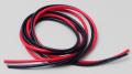 高品質シリコンワイヤー10ゲージ/赤黒1M