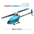超安定6軸ジャイロ&パニックリカバリ機能搭載! OMPHOBBY M2ヘリコプター調整済み完成機体(ブルー)【バッテリー1個・各種スペアパーツ・日本語説明書付属】