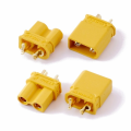 XT30Uコネクター(オス・メス) 2組入りセット φ3mm収縮チューブ(赤・黒)付属 【XT30-MF2P】