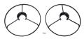 X-VERT VTOL用 プロペラガード 左 & 右 【EFL1802】