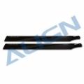 T-REX 500E/500PRO/500L用 カーボンファイバーブレード 425 黒 【HD420H】
