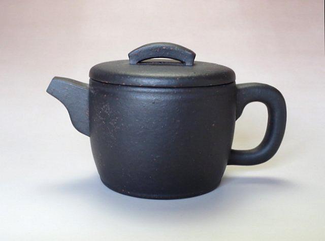 【宜興紫砂壺】プーアル茶器瓦当壺【王 亜琴】