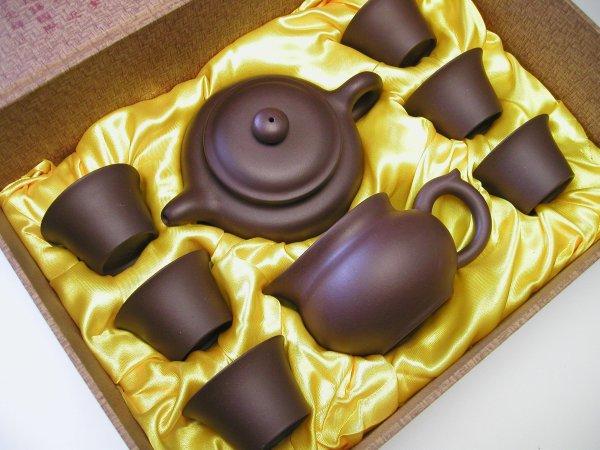 【中国茶器セット】倣古壺茶器セット