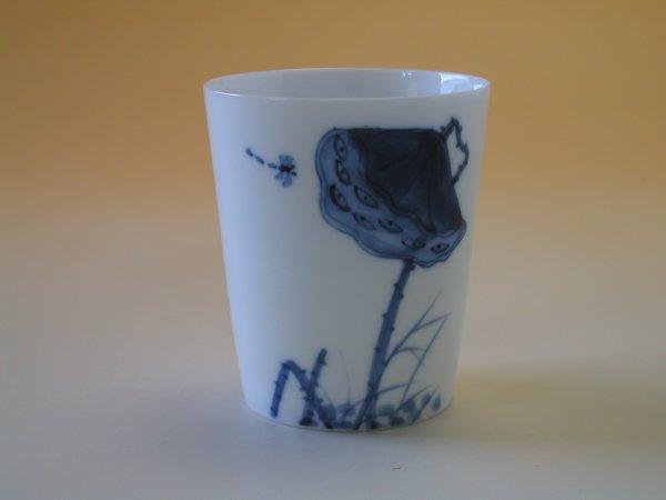 【中国茶具】景徳鎮直立逸品響杯(花托)