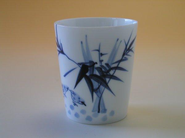 【中国茶具】景徳鎮直立逸品響杯(竹)