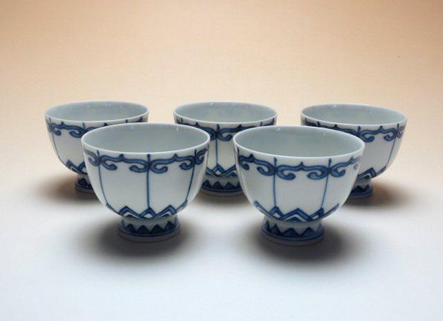 【中国茶具】松月煎茶碗五客組