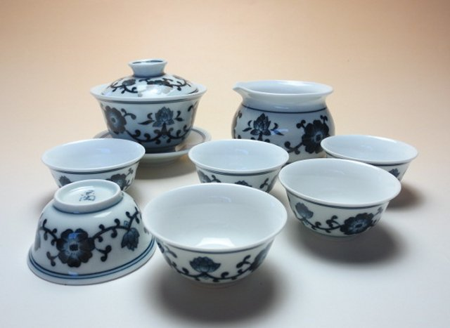 【中国茶器セット】京陶蓋碗茶器セット