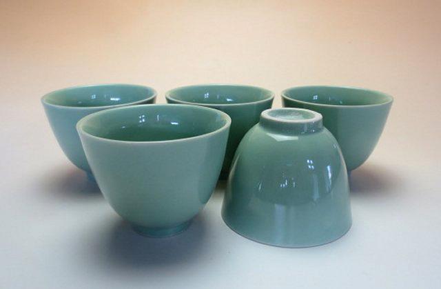 【中国茶具】翡翠釉茶杯