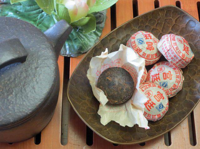 【熟茶】宮廷熟沱茶100g