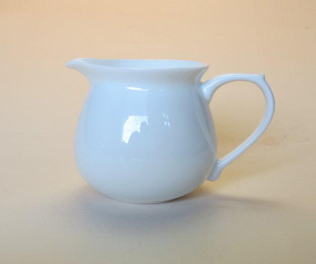 【中国茶具】白磁手付き茶海